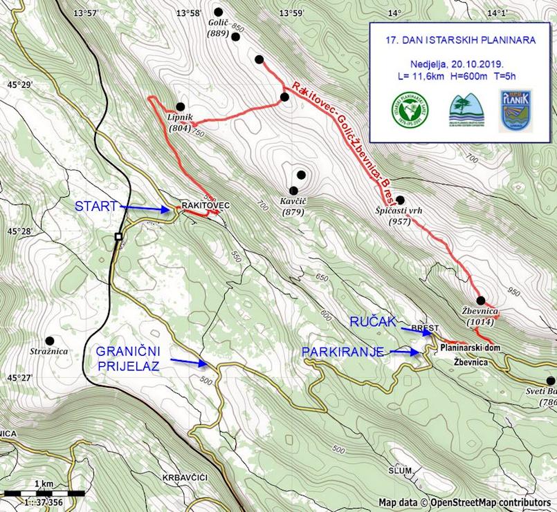 17. Dan istarskih planinara - Nedjelja 20. listopad 2019.