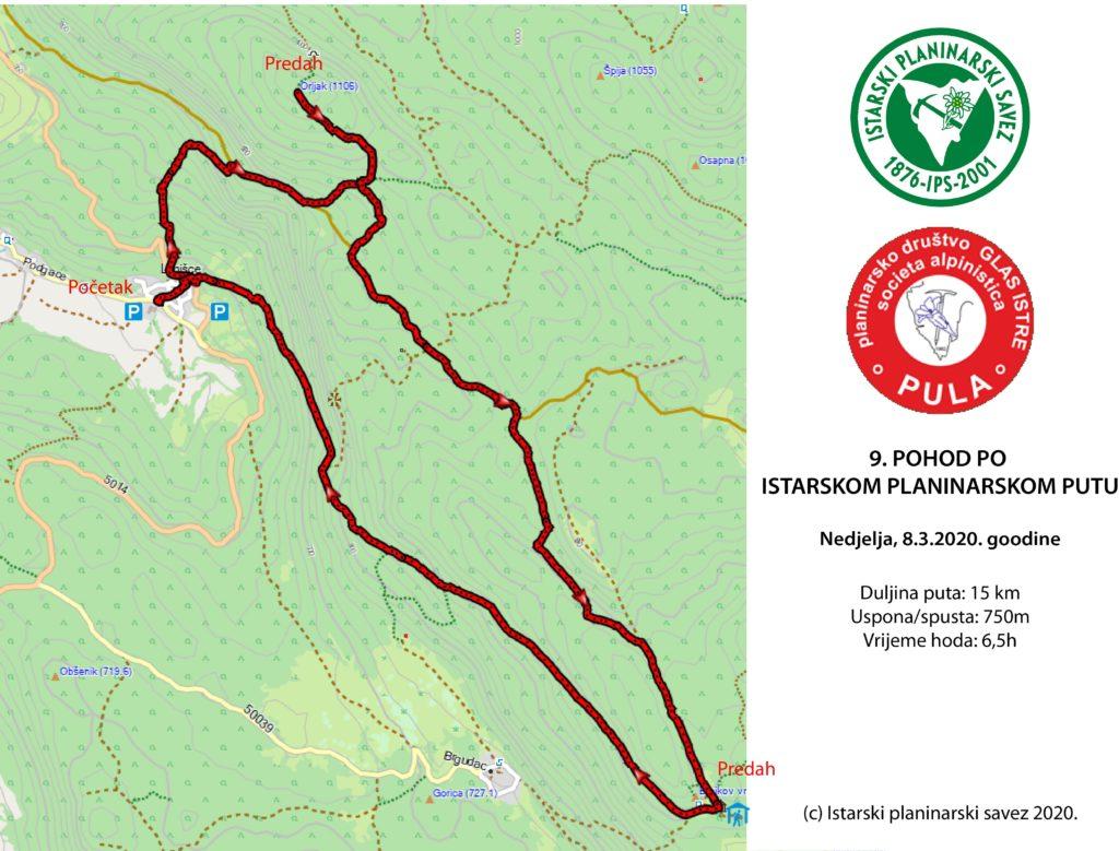 ODGAĐA SE! 9. pohod po Istarskom planinarskom putu